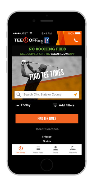 pga tour rolls out teeoff com app