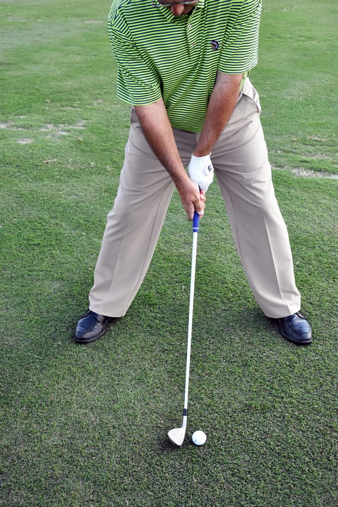 golf stance too wide
