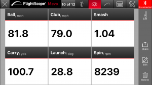 flightscope mevo sand wedge
