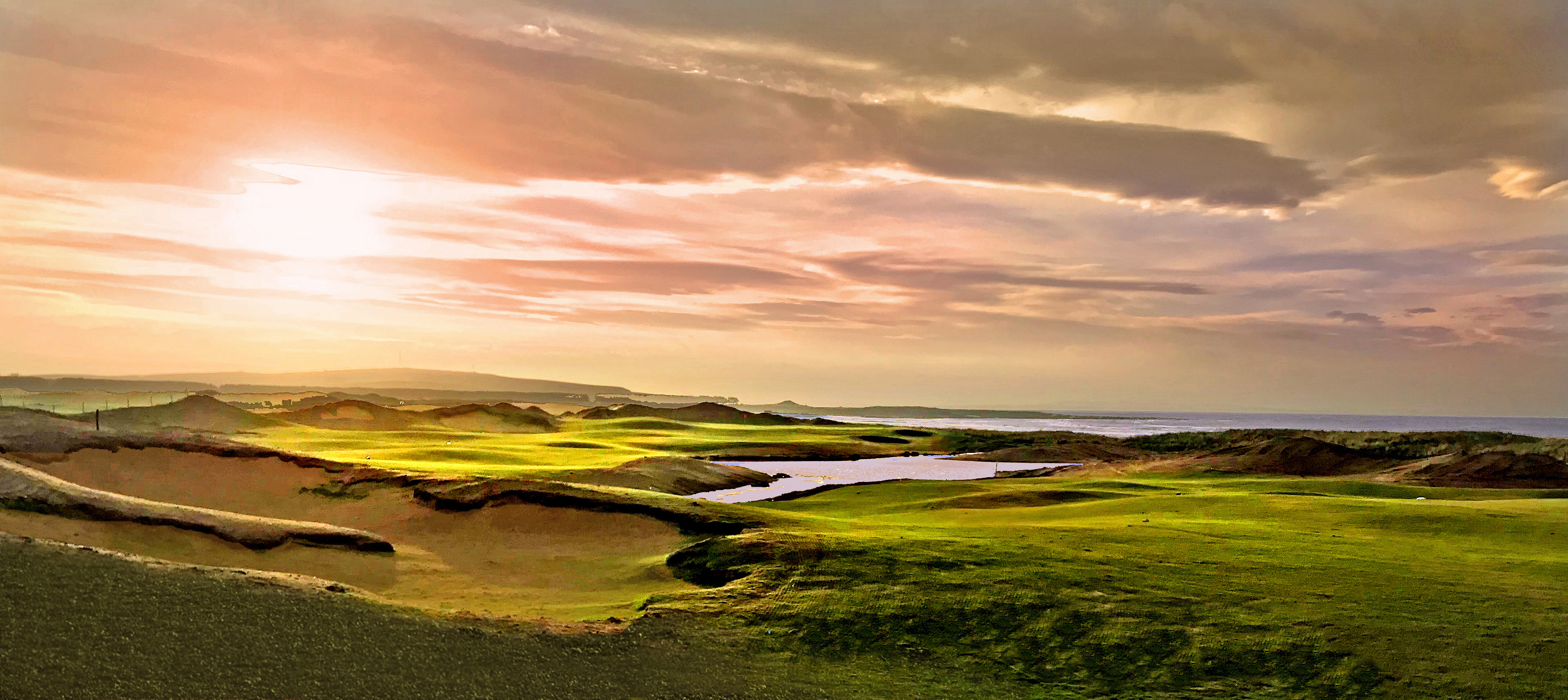 dumbarnie links sunset