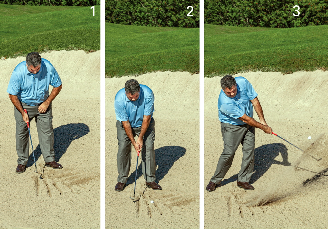 green-side bunker umbrella drill
